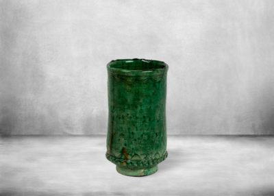 SP-tam12   vase-winecooler-green-ceramic-tamegroute-morocco