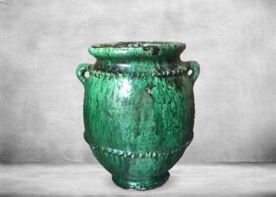 SP-tam15   plant-pot-green ceramic