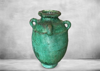 SP-tam16   vase-with-three-ears-green-ceramic