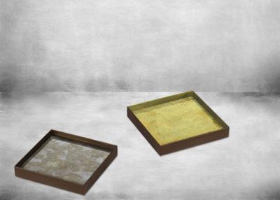 SP-1TGN-020380 bronze metal rim - malachite with gold 16x16x2,5_p